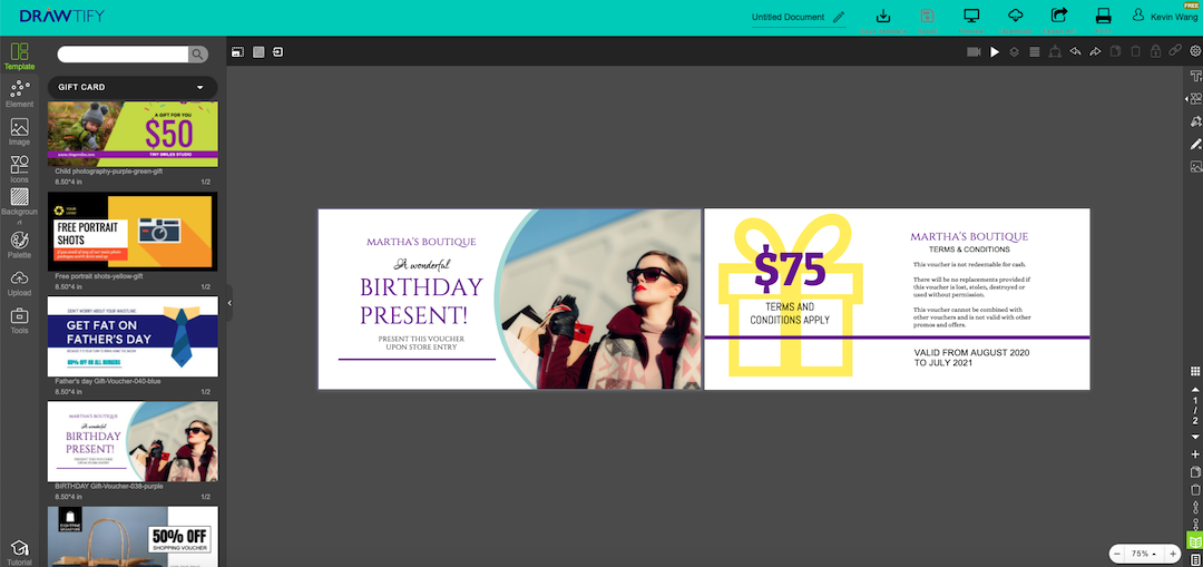 make a gift card