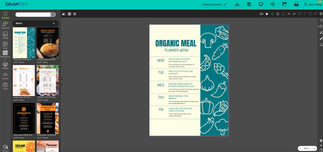 make menus