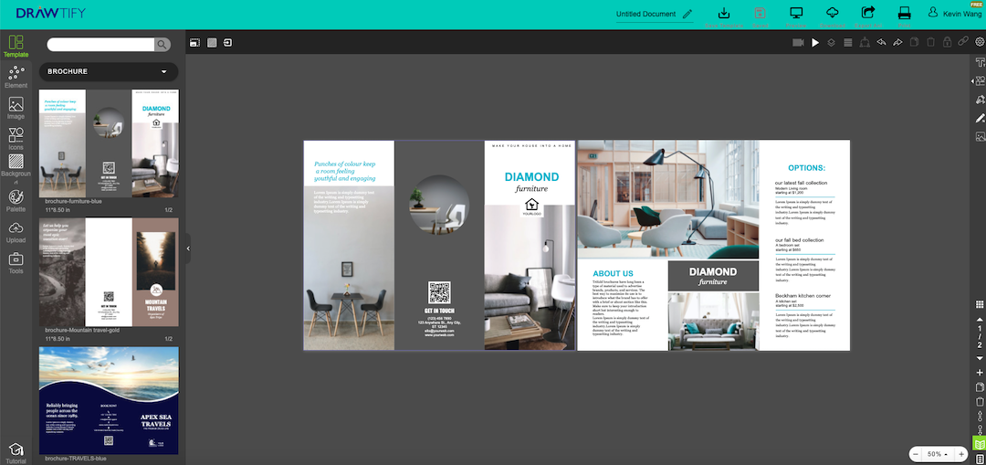 How to make a brochure with Drawtify?
