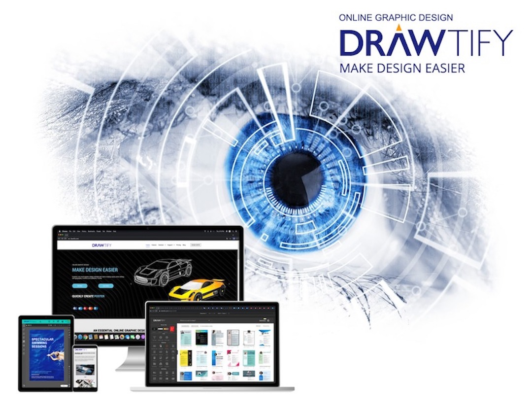 Drawtify is an online free alternative to Indesign and CorelDraw.