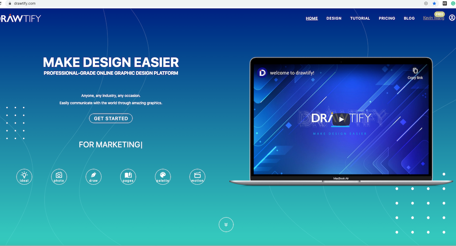 The online free alternative to InDesign, CorelDRAW, - DRAWTIFY