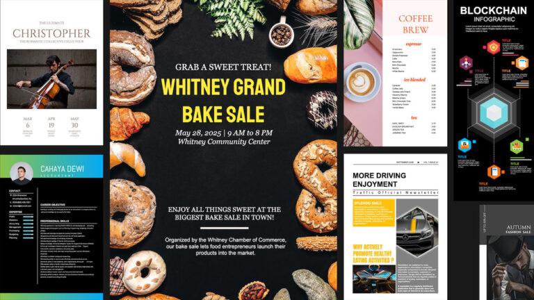 online graphic design - layout
