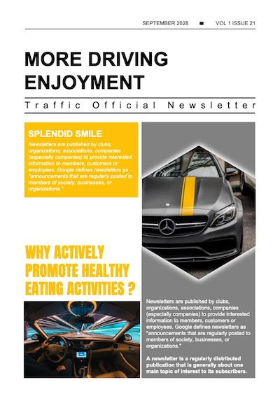 This is a sample of Drawtify's online free newsletter maker.