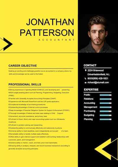 This is a sample of Drawtify's online free resume maker.