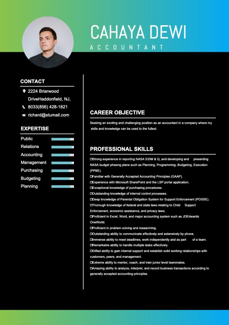 This is a sample of Drawtify's free online resume maker.
