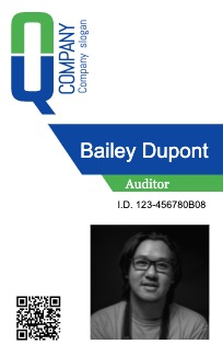 This is a sample of Drawtify's free online ID card maker.