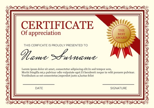 online certificate maker - sample 5