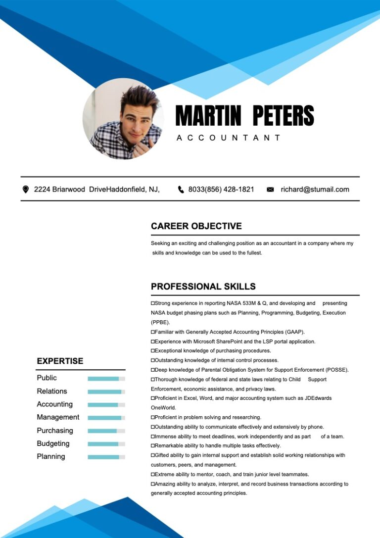 free resume maker -sample 1