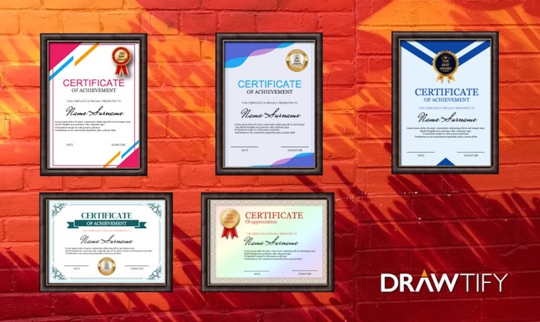 How to make a certificate with Drawtify?