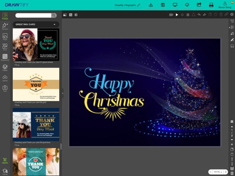 This is editor of Drawtify's online free greeting card maker.