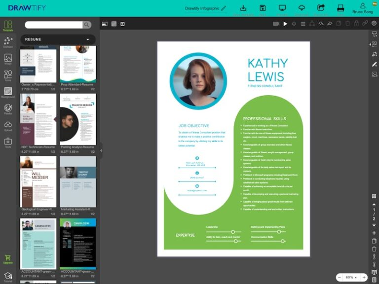 This is editor of Drawtify's online free resume maker.