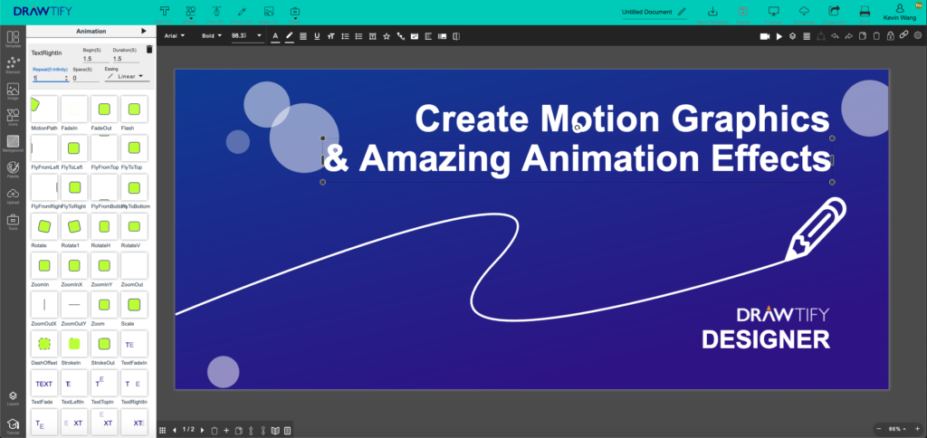 Start creating motion graphics and amazing animation effects