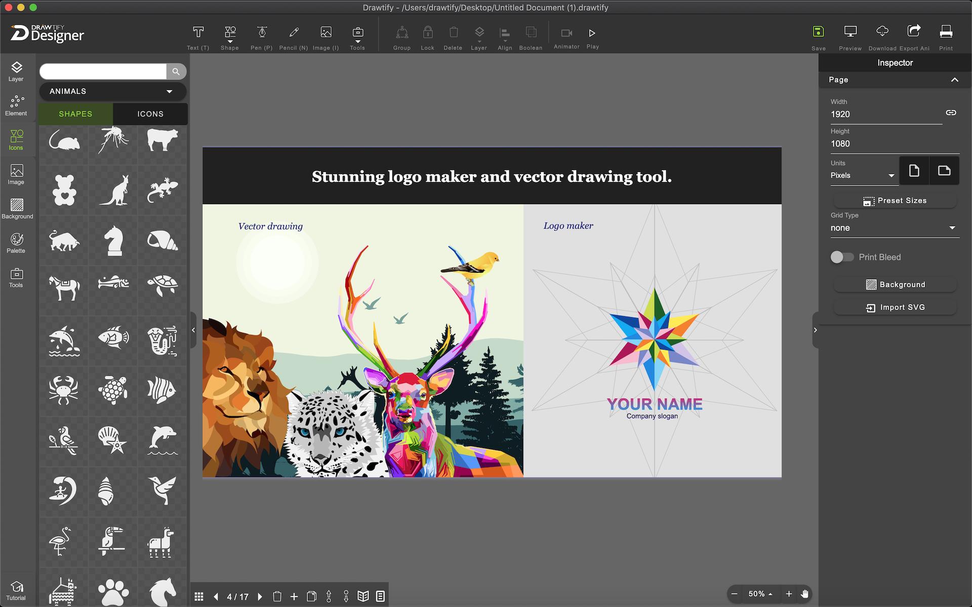 powerful vector editor