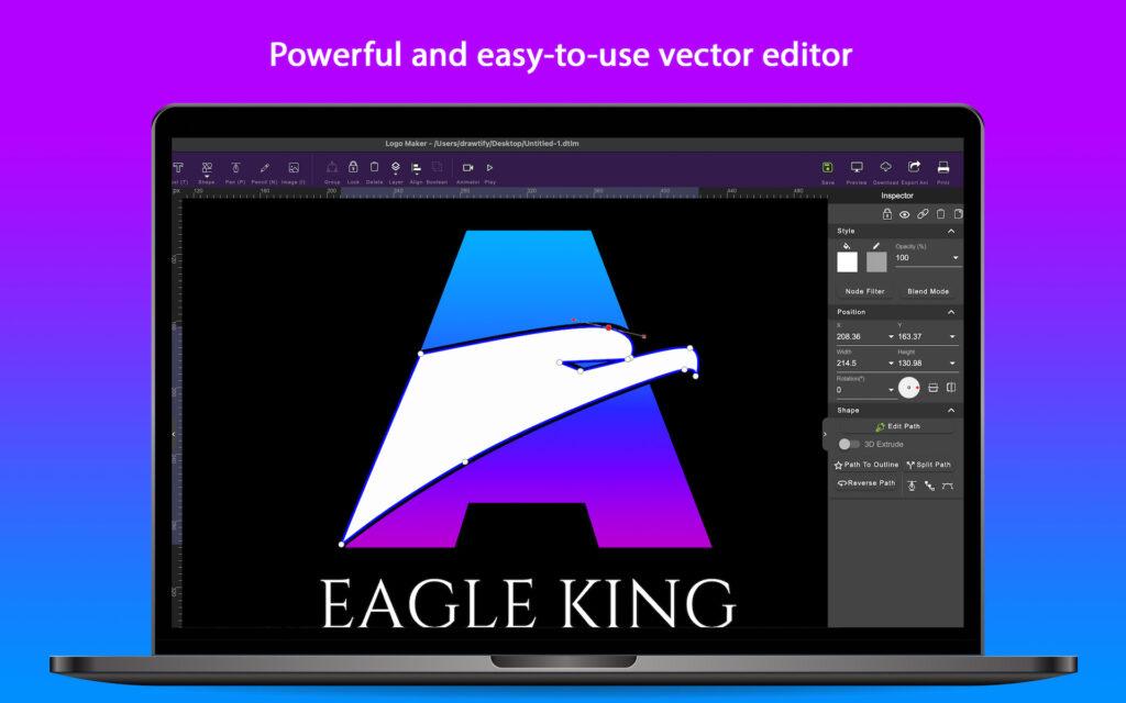 The best choice for logo design in 2021 - Drawtify Logo Maker & Animator 5