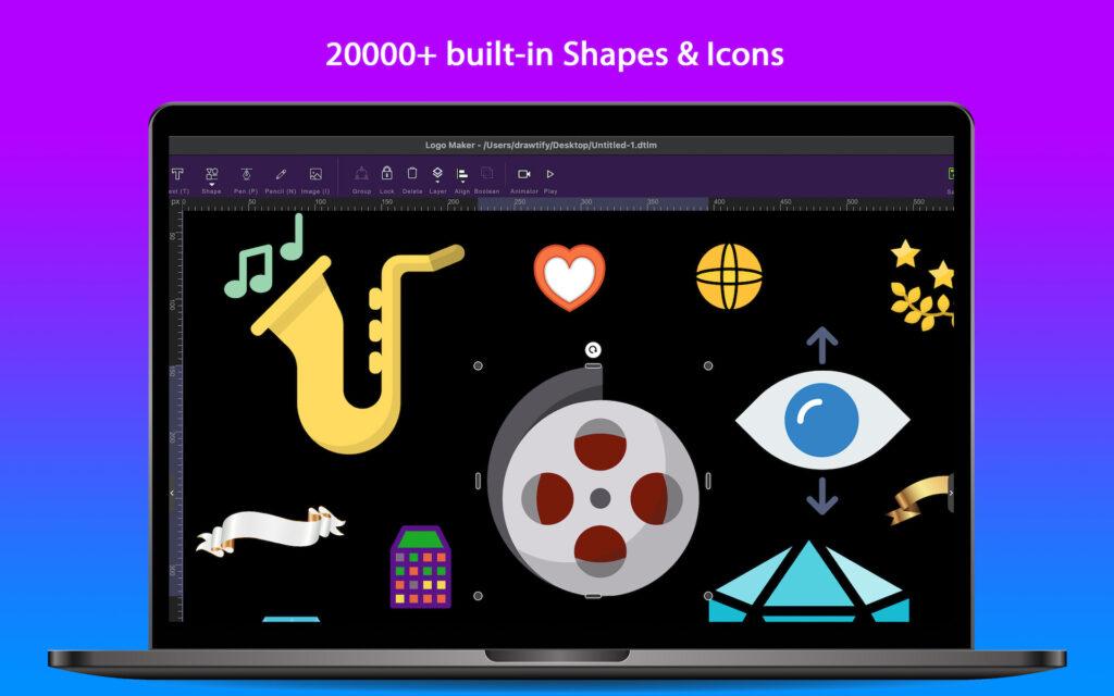 The best choice for logo design in 2021 - Drawtify Logo Maker & Animator 1