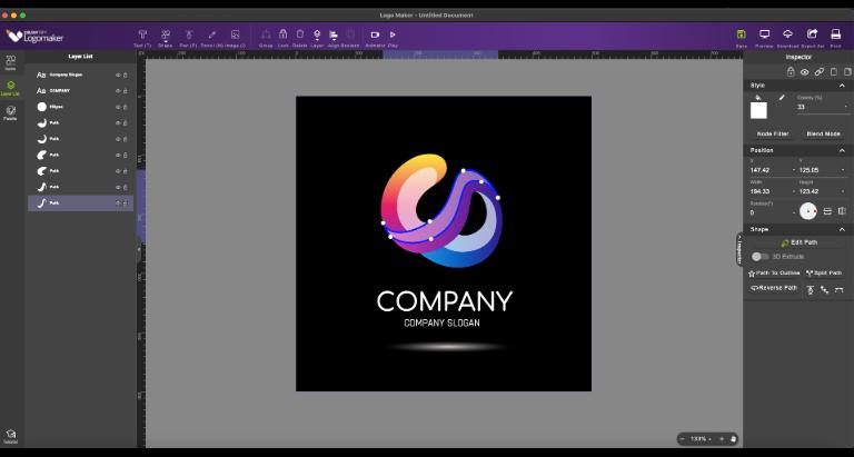 Drawtify LogoMaker full screenshot