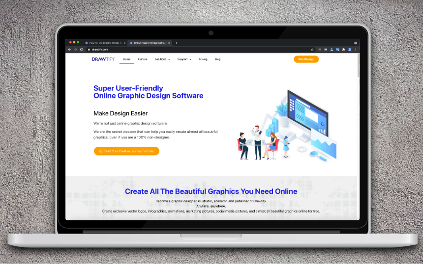 super user-friendly online graphic design software-Drawtify,The Best Online Chart Tool In 2021。